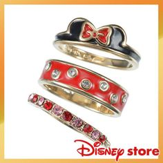 Disney-Store-Ring-3P-Minnie-Mouse-size-6-or-6-5-7-Japan-Disney-goods-510B
