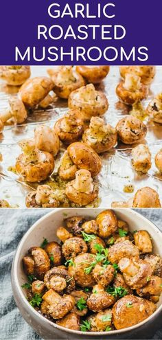 These awesome garlic roasted mushrooms with balsamic vinegar are baked in the ov. Keto Recipes These awesome garlic roasted mushrooms with balsamic vinegar are baked in the ov. Healthy Side Dishes, Side Dish Recipes, Veggie Recipes, Keto Recipes, Vegetarian Side Dishes, Vegetarian Recipes With Mushrooms, Shrimp Recipes, Simple Side Dishes, Dinner Recipes