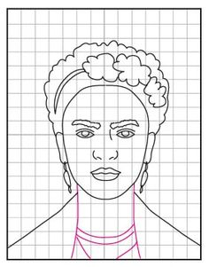How to Draw Frida Kahlo · Art Projects for Kids Frida Kahlo Portraits, Frida Kahlo Artwork, Fridah Kahlo, Pop Art, Kahlo Paintings, Frida Art, Mexico Art, Simple Portrait, Expressive Art