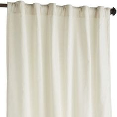Soft to the touch and easy on the eyes, our velvety Sheridan curtain is woven from pure cotton, then lined for extra heft. Plus, you have the choice of hanging it two ways—rod pocket or back tab. The luxurious look of this curtain gives windows an instant update.