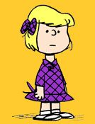 Patty - the only girl in the original Peanuts gang.  Her closest friend is Violet.