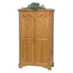 #Bedroom #Wardrobe Amish Heritage Wardrobe - these are great for storing those items you only use once in a while or can be used to store your everyday items that don't really fit in your dresser drawers. Some even have hanging space that can store the sweaters and what have you, that don't fit in your closet.