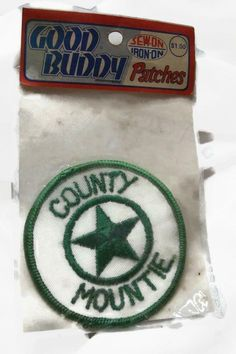 Vintage Embroidered Ambulance Service Patch Green Unused New Old Stock NOS