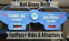 Here is a list of FastPass+ Rides and Attractions at each of the Walt Disney World Theme Parks. You can use FastPass+ for Meet & Greets at the parks as well.