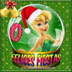 NombresEloisa.com: Abecedario Campanita (Felices Fiestas ) Tinkerbell, Snow Globes, Christmas Ornaments, Disney Princess, Disney Characters, Holiday Decor, Blog, Home Decor, Art