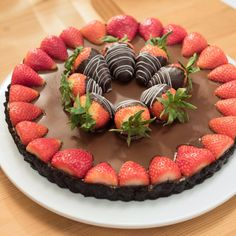 Chocolate-Covered Strawberry Tart By Katie Lee