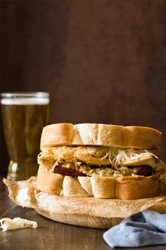 This easy Polish Hill Sandwich is Pittsburgh in a bite with kielbasa, pierogies, slaw, and beer mustard! Homemade dinners don't get much better than this! Pittsburgh Food, Polish Recipes, Polish Food, Dog Recipes, Family Recipes, Delicious Dinner Recipes, Game Day Food, Wrap Sandwiches, Everyday Food