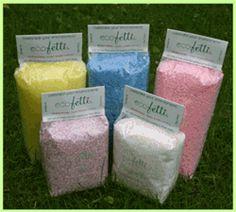 Ecofetti, biodegradable confetti for your wedding toss
