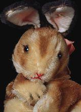1950s Steiff Rabbit Bunny Hase Hand Puppet Glass Eyes ID