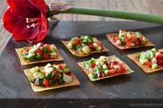 Asian Salad on Crispy Wontons, one of the healthy appetizer recipes on Cook the Story