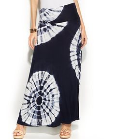 INC International Concepts Tie-Dye Convertible Maxi Skirt sorta boho chic