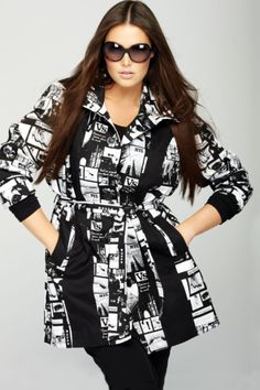 eaab4eaa4b3 a dramatically printed black and white coat