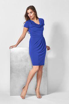 One Shoulder, Shoulder Dress, Dresses For Work, Elegant, Fashion, Classy, Moda, Fashion Styles, Fashion Illustrations