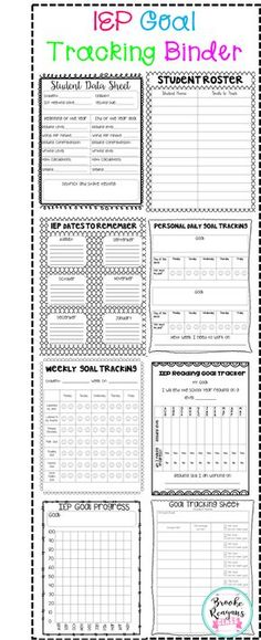 Get organized with this IEP Goal Tracking Binder. Stay on top of your students goal progress and data.
