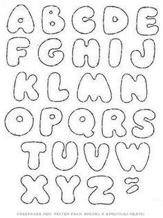 Molde de Letras do Alfabeto para artesanato em Feltro Lindos moldes de letras do alfabeto para produção de artesanato em feltro para dow...