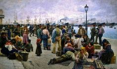 Angiolo Tommasi ´The Emigrants/Gli Emigranti´ (1895)