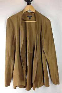 New arrivals for Fall! #EileenFisher Draped Open Front Goat Suede Leather Jacket Camel Sz L $898 http://www.ebay.com/itm/Eileen-Fisher-Draped-Open-Front-Goat-Suede-Leather-Jacket-Camel-Sz-L-898-/162258678621?hash=item25c75ef35d