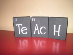 wooden blocks periodic table for science teacher gift - Periodic Table Name Plate