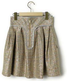 Flammeum(フラミューム)「チェック柄フレアスカート(スカート)」|詳細画像