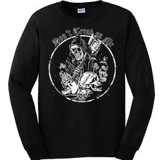 """Bundle of 3 items. Don't Tread on Me: Grimm Reaper. XL Black Long Sleeve. Bundle of 3 items: T-shirt, Pocket Constitution & 4.5"""" decal. Official Sons of Liberty Tees® Gear. Printed in USA. Don't Tread on Me Apparel. Screen Printed on a Long Sleeve Port and Company shirt, imported. 6.1 oz. 100% Pre-Shrunk Cotton Tee. Don't Tread on Me Apparel, Pro-America and Patriot Apparel - made by a small American owned business, by a couple of die hard patriots. Long Sleeve Shirt is roomy, not fashion..."""