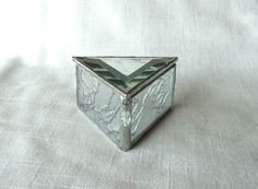 Clear Triangle Stained Glass Box. $33.00, via Etsy.