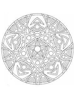 12 FREE Intermediate Mandala coloring pages for adults