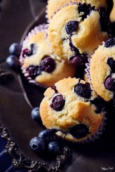 Muffin ai mirtilli e yogurt