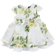 Roberto Cavalli Kids - Flared printed cotton voile dress - White - 113182