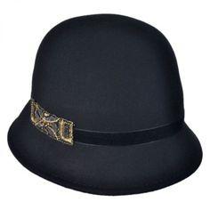 Bead Decor Cloche Hat available at  VillageHatShop Flapper Hat 6121cfb0664