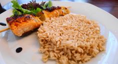 Salmon on the Barbie...with Basmati Rice. Risotto, Salmon, Grains, Barbie, Rice, Cooking, Ethnic Recipes, Food, Kitchen