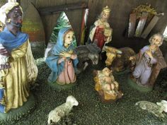 Nativity set / nativity scene / vintage by cgraceandcompany