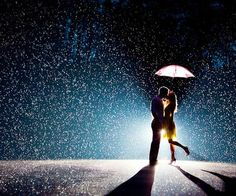 engagement photo inspiration - in the rain :)
