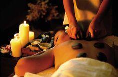Hot stone massage!