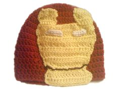 Iron Man Crochet Hat by MaitriDsigns on Etsy, $10.00