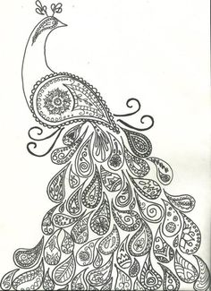 Really like this peacock. Has a nice head/face. I think it would be pretty in color. Maybe too busy and probably would not be able to add the cross into the design for that reason.  Paisley peacock