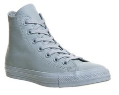 Buy Baby Blue Exclusive Converse All Star Hi Leather from OFFICE.co.uk.