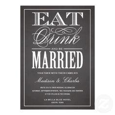 BE MARRIED CHALKBOARD | WEDDING INVITATION #chalkboard #wedding