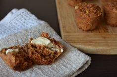 {Quick Carrot, Apple and Ricotta Muffins} 35 Minutes