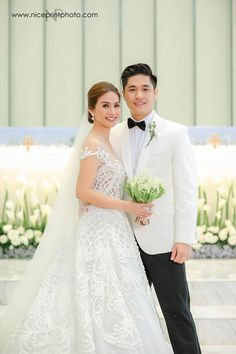 This is certainly a cause for celebration, darlings! Kaye Abad and Paul Jake Castillo's official wedding photos by Nice Print Photography are here to grace our screens today, and we couldn… Filipiniana Wedding Theme, Gown Wedding, Filipino Wedding, Wedding Goals, Wedding Blog, Wedding Ideas, Civil Wedding, Designer Wedding Gowns, Boyfriends