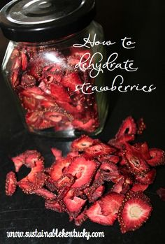 I have a new obsession . . . dried strawberries. After years of canning and freezing, I thought it would be fun to try something different this year, so I opted for drying them. (Elliot Coleman sin…