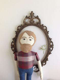 Klaus handmade heirloom cloth doll with linen by BeardedFellas