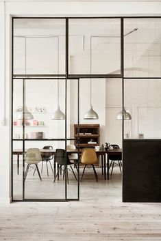 Steel Window Design specialise in the design and manufacture of steel windows and steel doors for all sectors of the. Home Interior, Interior Architecture, Interior Windows, Kitchen Interior, Loft Kitchen, Interior Styling, Kitchen Dining, Yellow Interior, Interior Office