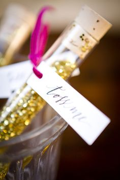 A glittery gold send off for a wedding? Yes, please! Gorgeous Fall Inspiration