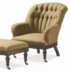 Oscar de la Renta Upholstery (60-11-707) CHANNEL BACK CHAIR
