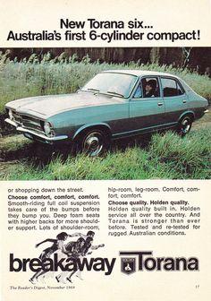https://flic.kr/p/PmU1VQ | 1970 LC Holden Torana 4 Cylinder 6 Cylinder & GTR Page 3 Aussie Original Magazine Advertisement
