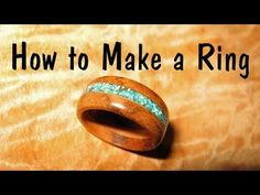 Make a wooden Ring with Turquoise Inlay // How To - YouTube