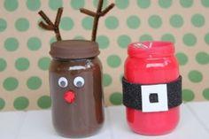 christmas crafts for kids baby food jar Santa Crafts, Reindeer Craft, Santa And His Reindeer, Christmas Crafts For Kids, Cute Crafts, Christmas Projects, Handmade Christmas, Holiday Crafts, Holiday Fun