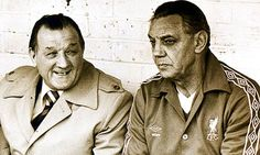 Bob Paisley, left and Joe Fagan on the bench at Anfield.  (Photograph: Pa/PA Archive/PA Photos) #LFC