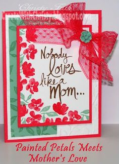 Stampin' Up! Painted Petals and Mother's Love Card - New 2015-2017 In Colors - Create With Christy - Christy Fulk, Stampin' Up!
