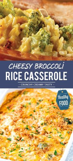 Cheesy Broccoli Rice Casserole from Scratch - Keto for beginners Broccoli Cheese Rice Casserole, Cheesy Broccoli Rice Casserole, Chicken Rice Casserole, Brocoli Casserole Recipes, Cheesey Broccoli, Keto, Broccoli Recipes, Healthy Recipes, Eat Healthy